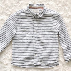 Zara Toddler Boys Textured Button Up